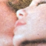 rephotographed found images of people kissing